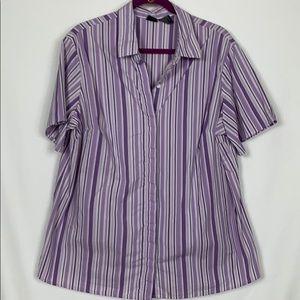 Mossimo purple/white striped top size 18W